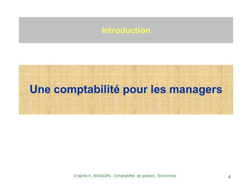 Une comptabilité pour les managers