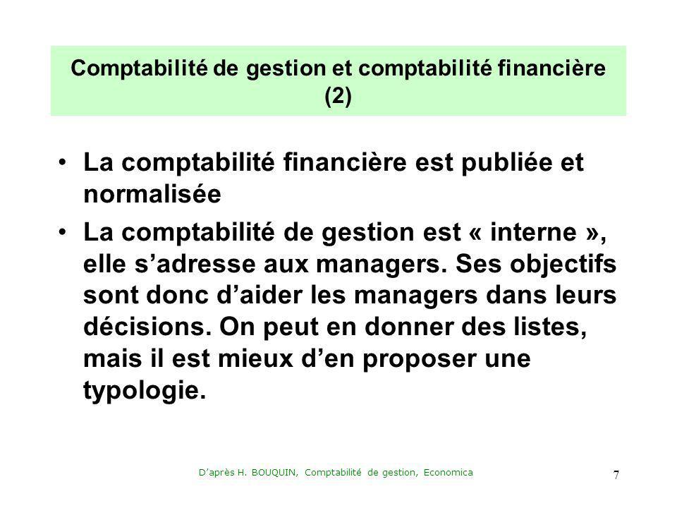 Comptabilité de gestion et comptabilité financière (2)