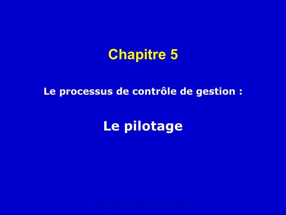 Le processus de contrôle de gestion : Le pilotage