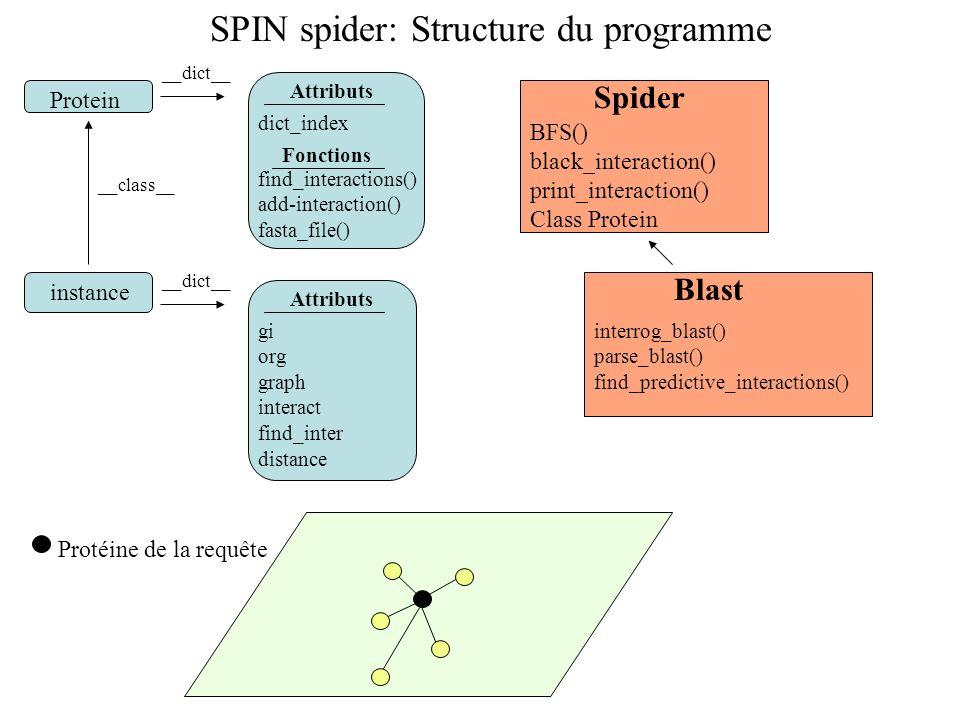 SPIN spider: Structure du programme