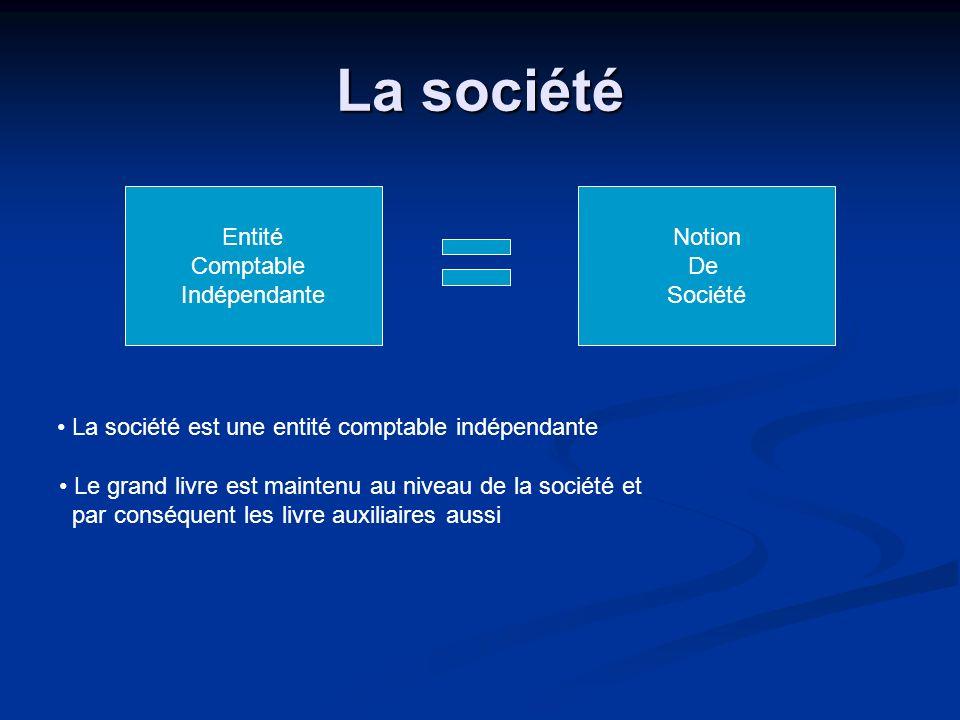 La société Entité Comptable Indépendante Notion De Société