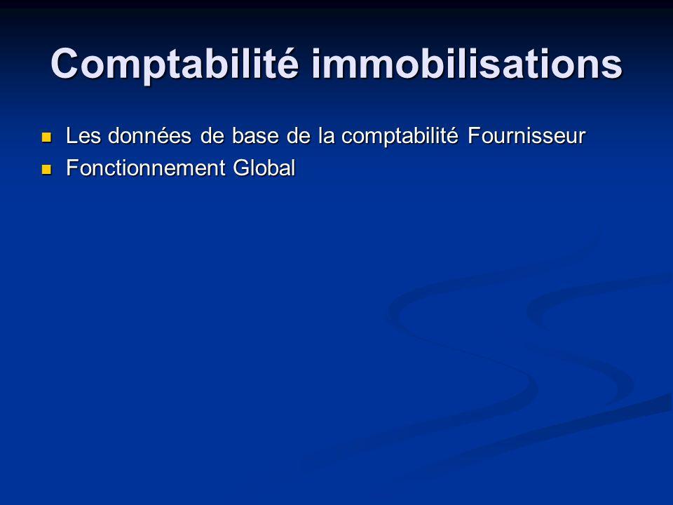 Comptabilité immobilisations