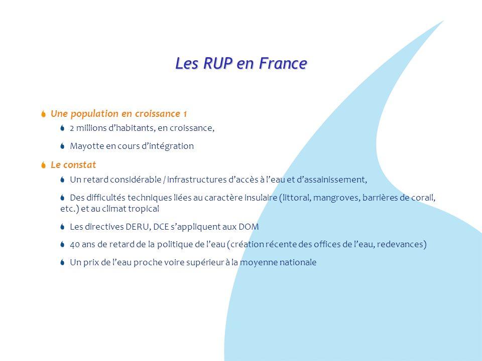 Les RUP en France Une population en croissance 1 Le constat
