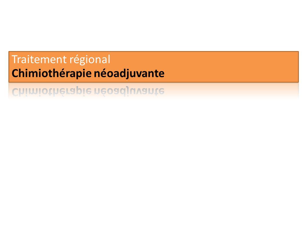 Traitement régional Chimiothérapie néoadjuvante