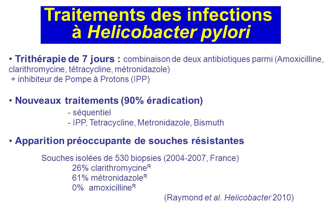 Traitements des infections