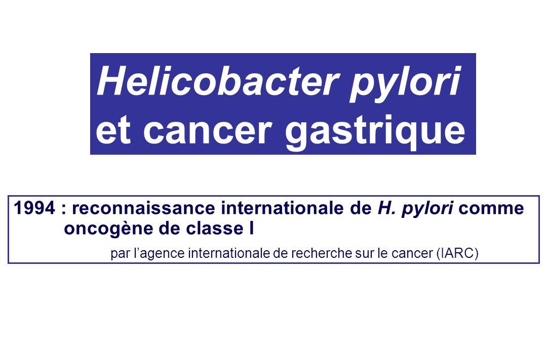 Helicobacter pylori et cancer gastrique