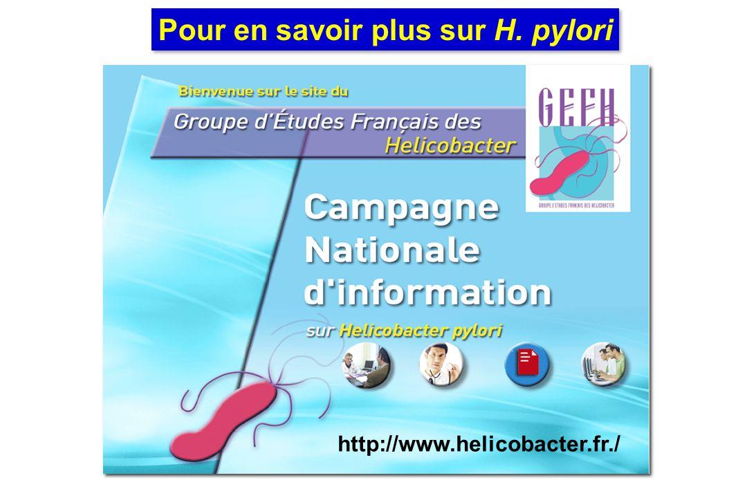 Pour en savoir plus sur H. pylori