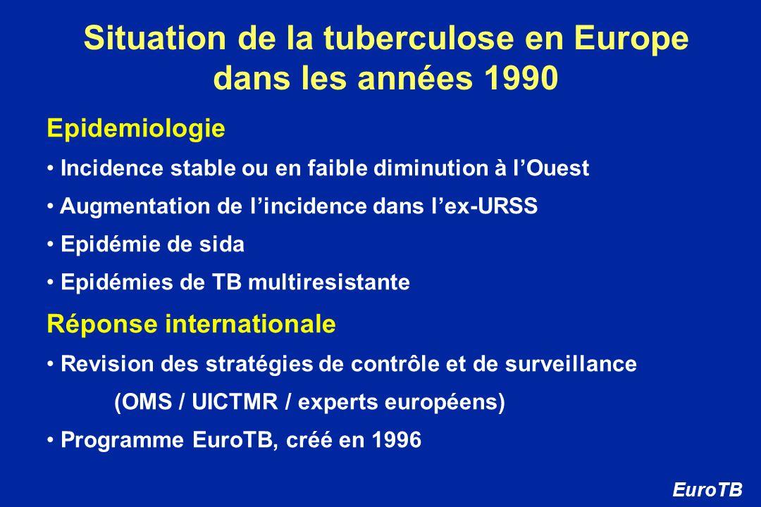 Situation de la tuberculose en Europe dans les années 1990