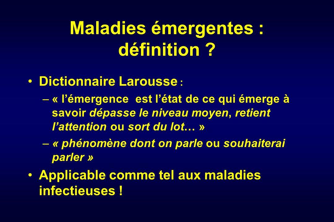 Maladies émergentes : définition