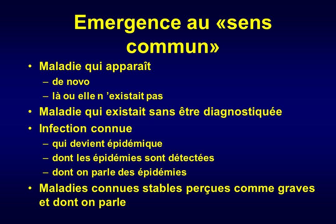Emergence au «sens commun»