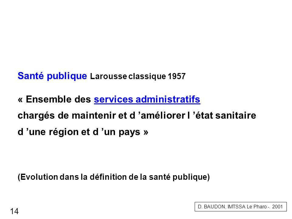 Santé publique Larousse classique 1957
