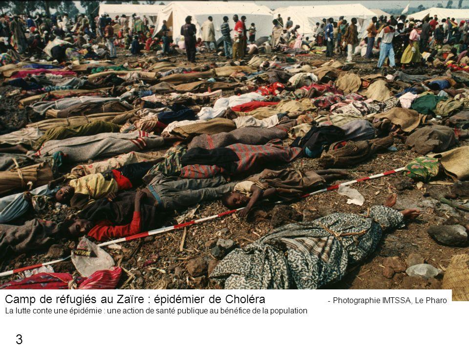 Camp de réfugiés au Zaïre : épidémier de Choléra - Photographie IMTSSA, Le Pharo