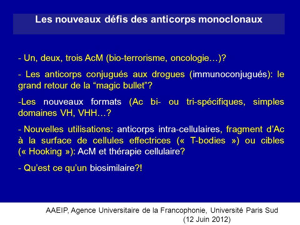 Les nouveaux défis des anticorps monoclonaux