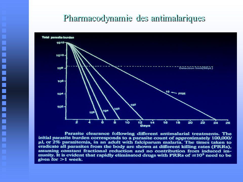 Pharmacodynamie des antimalariques