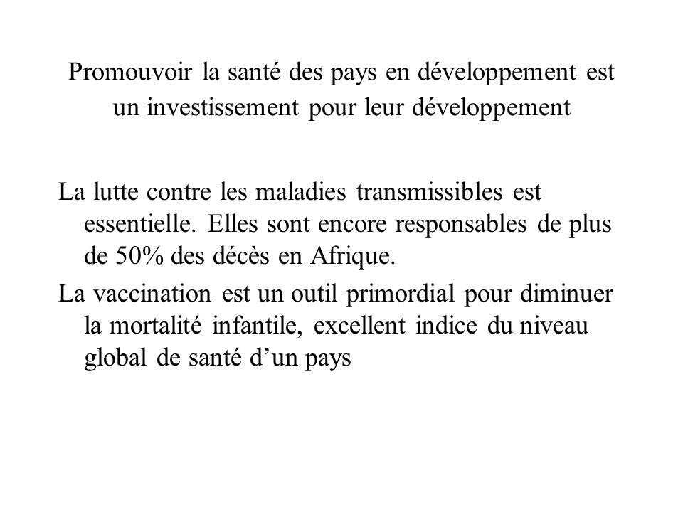 Promouvoir la santé des pays en développement est un investissement pour leur développement