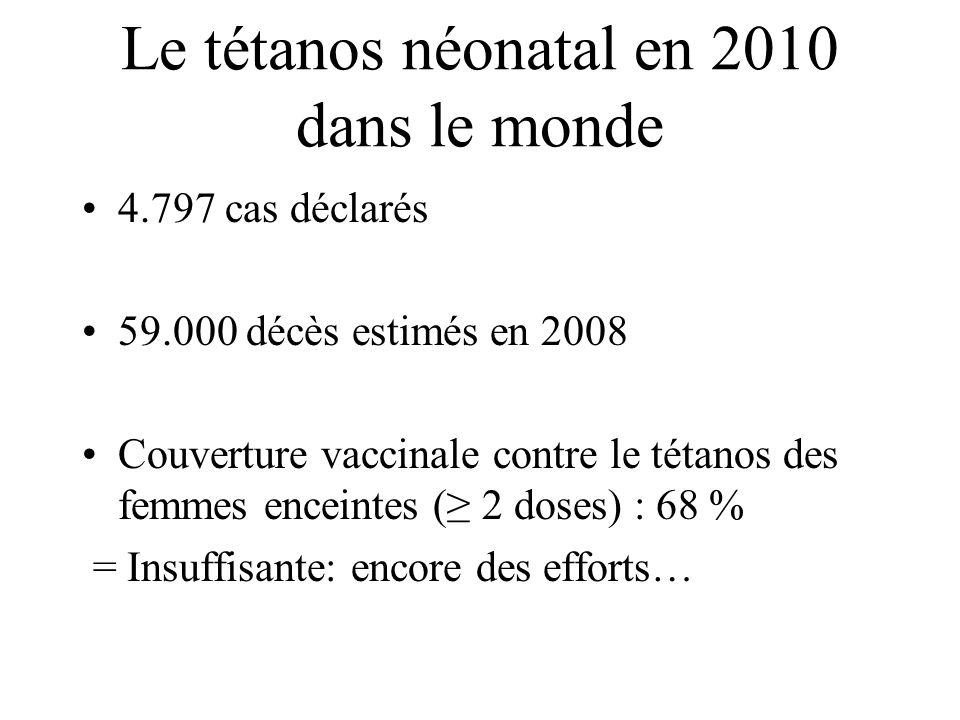 Le tétanos néonatal en 2010 dans le monde