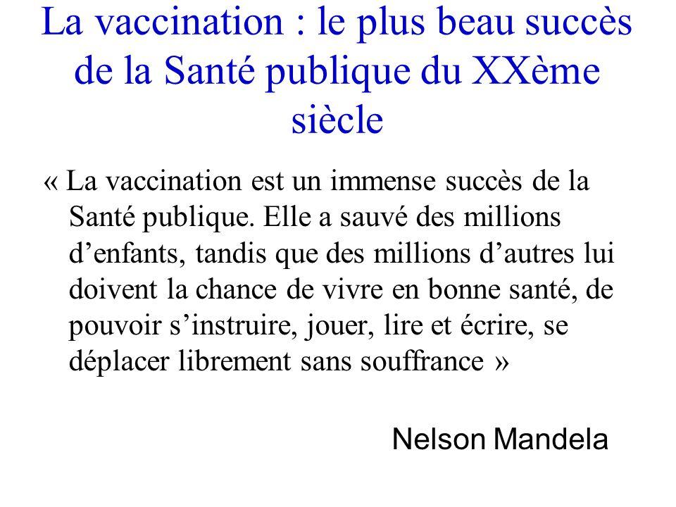 La vaccination : le plus beau succès de la Santé publique du XXème siècle