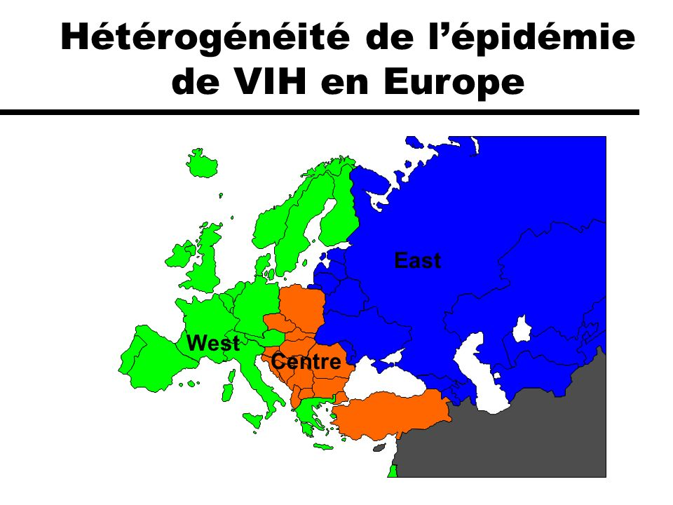 Hétérogénéité de l'épidémie de VIH en Europe