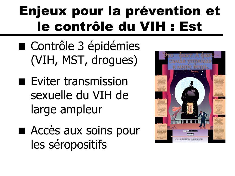 Enjeux pour la prévention et le contrôle du VIH : Est