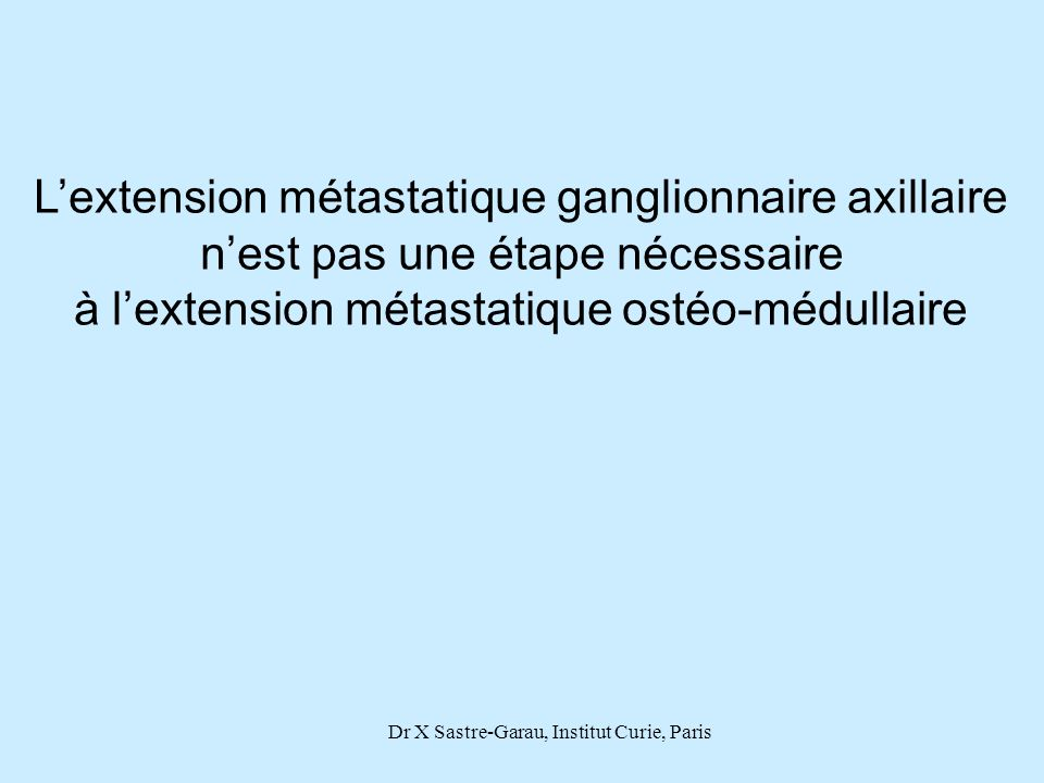 L'extension métastatique ganglionnaire axillaire