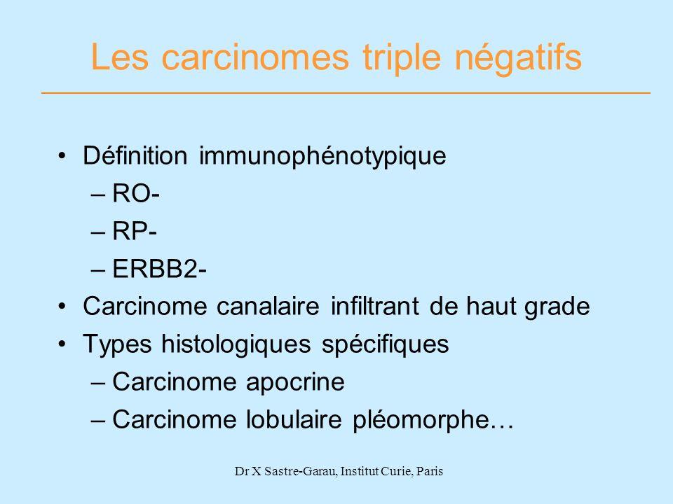 Les carcinomes triple négatifs