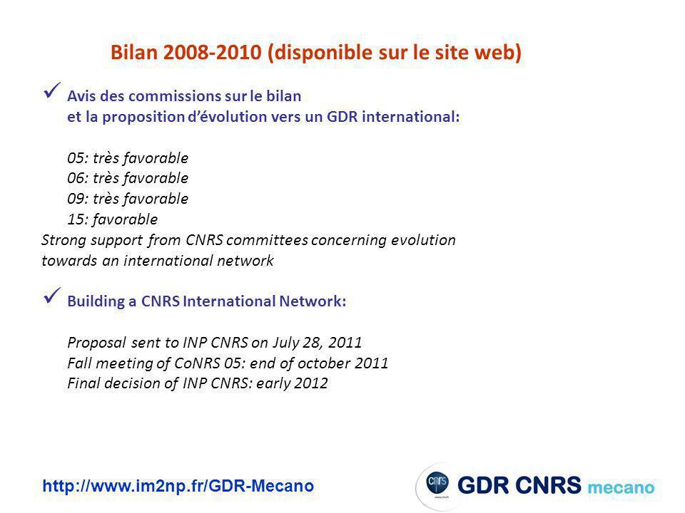 Bilan 2008-2010 (disponible sur le site web)