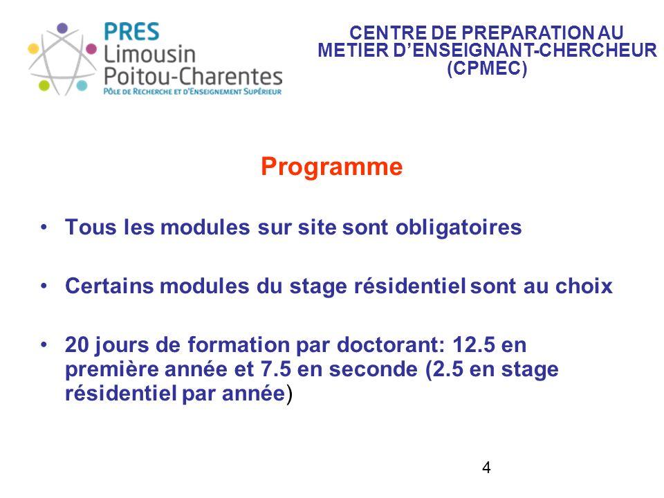 CENTRE DE PREPARATION AU METIER D'ENSEIGNANT-CHERCHEUR (CPMEC)