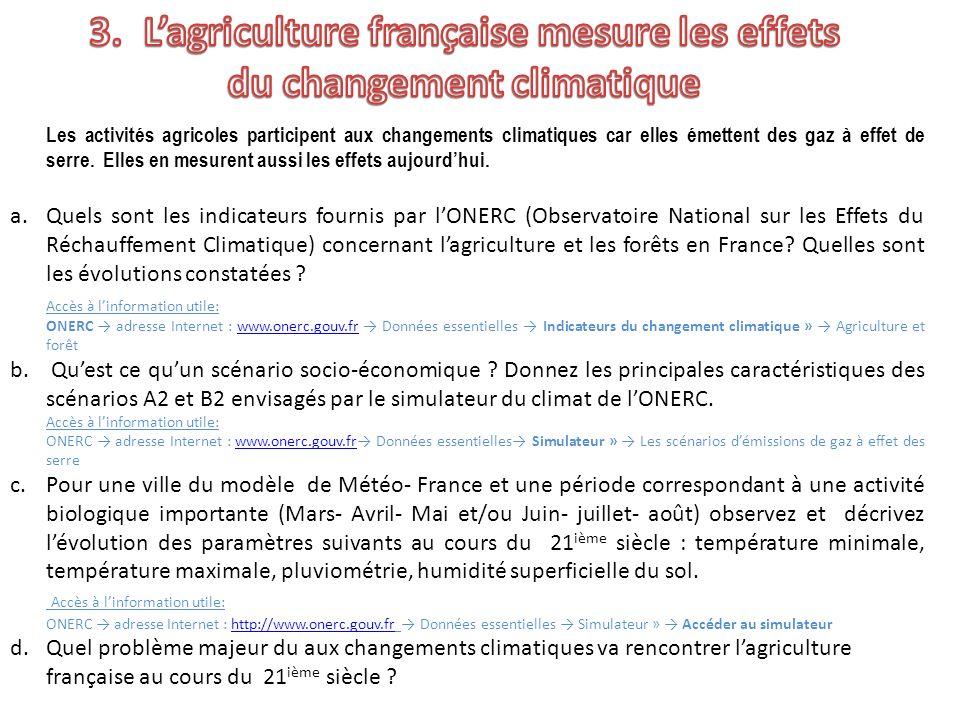 L'agriculture française mesure les effets du changement climatique