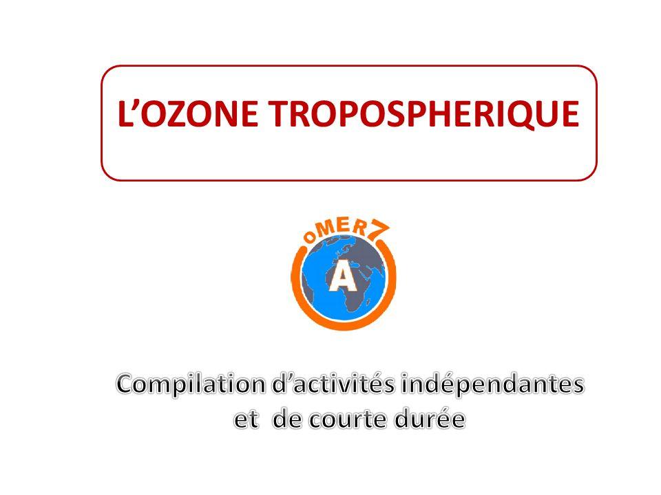 L'OZONE TROPOSPHERIQUE Compilation d'activités indépendantes