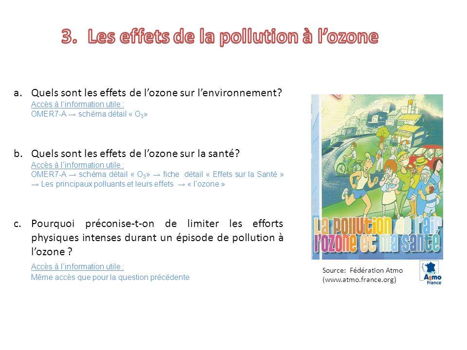 Les effets de la pollution à l'ozone