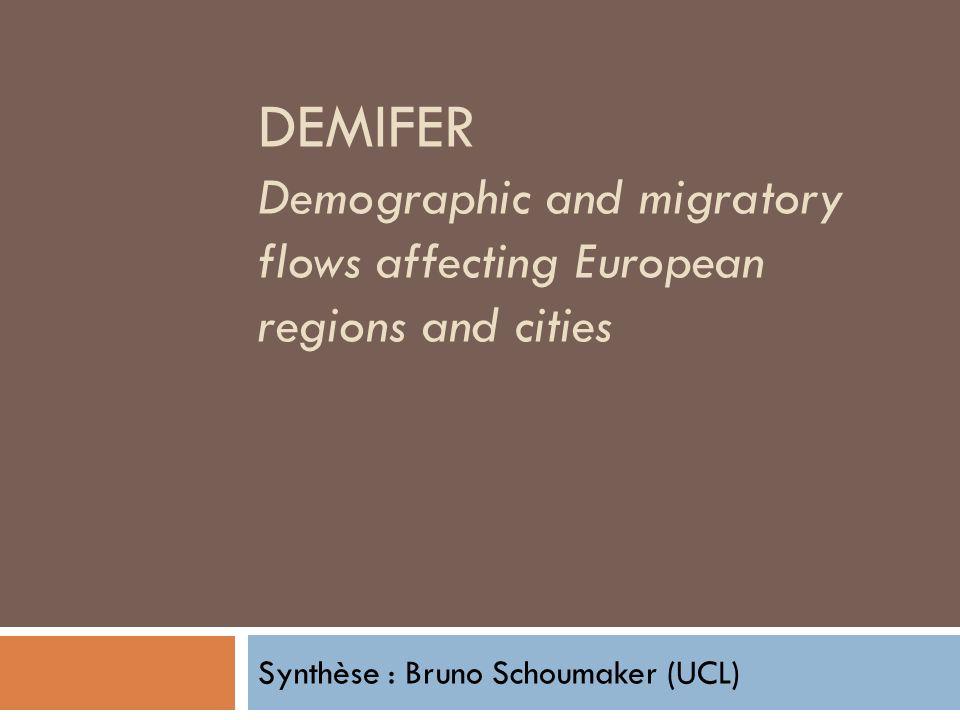 Synthèse : Bruno Schoumaker (UCL)