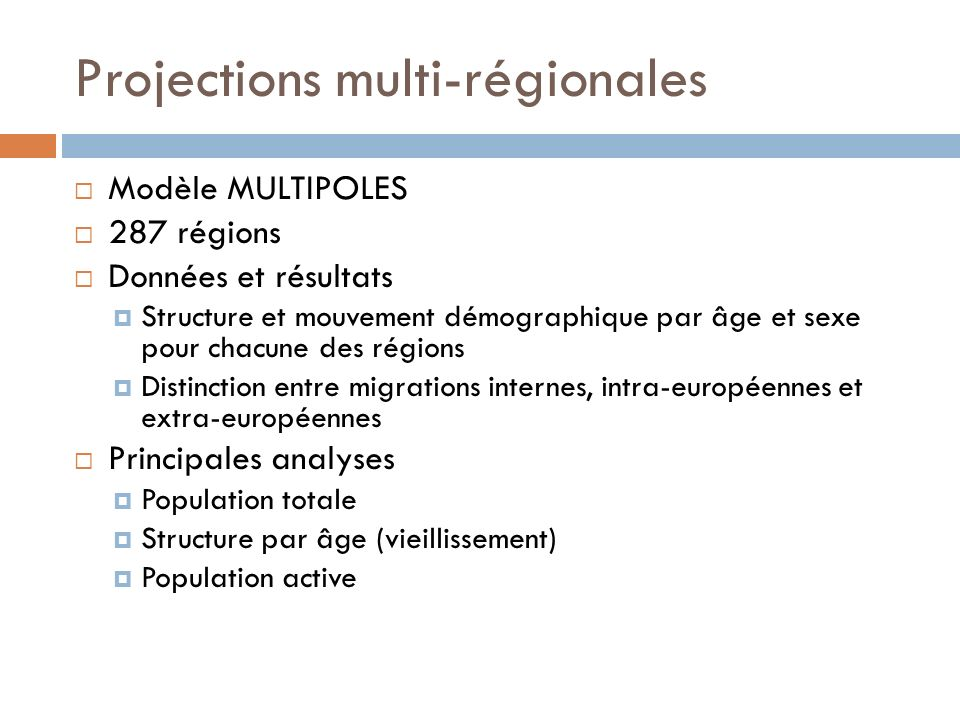 Projections multi-régionales