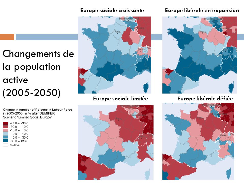 Changements de la population active ( )