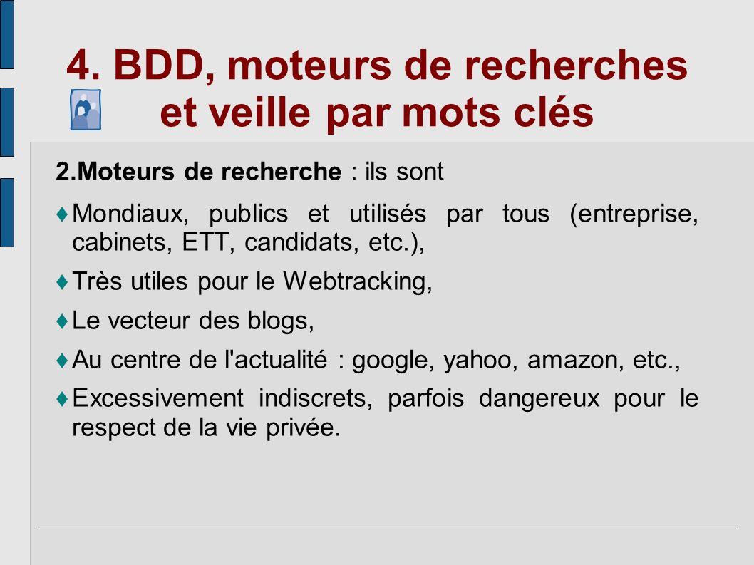 4. BDD, moteurs de recherches et veille par mots clés