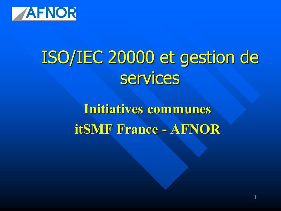 ISO/IEC 20000 et gestion de services