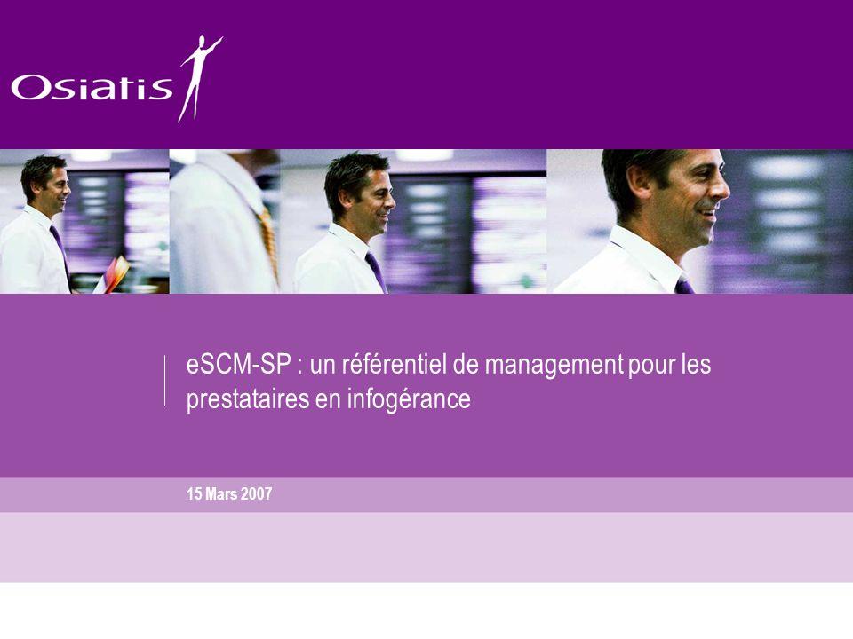 eSCM-SP : un référentiel de management pour les prestataires en infogérance