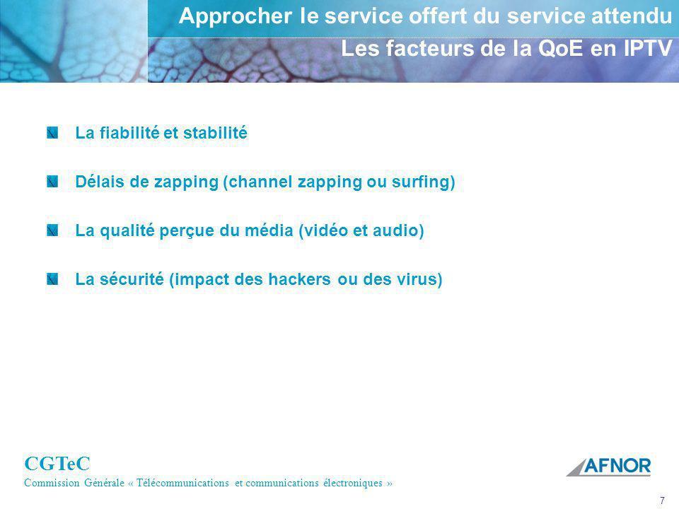 Approcher le service offert du service attendu Les facteurs de la QoE en IPTV
