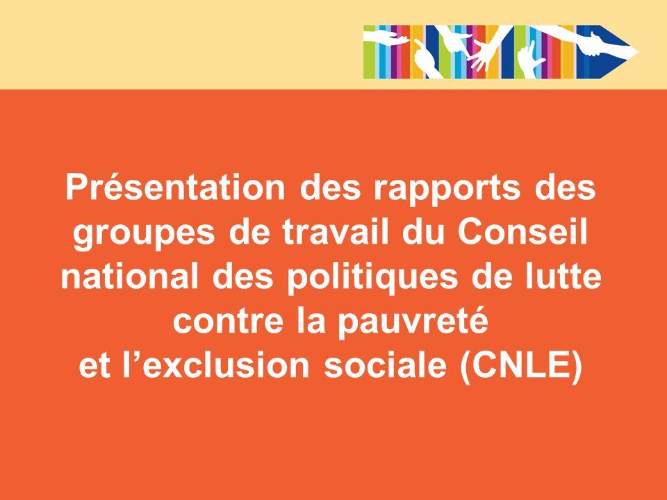 et l'exclusion sociale (CNLE)