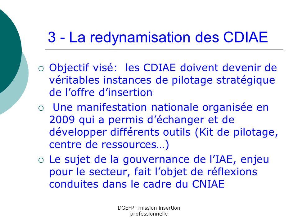 3 - La redynamisation des CDIAE