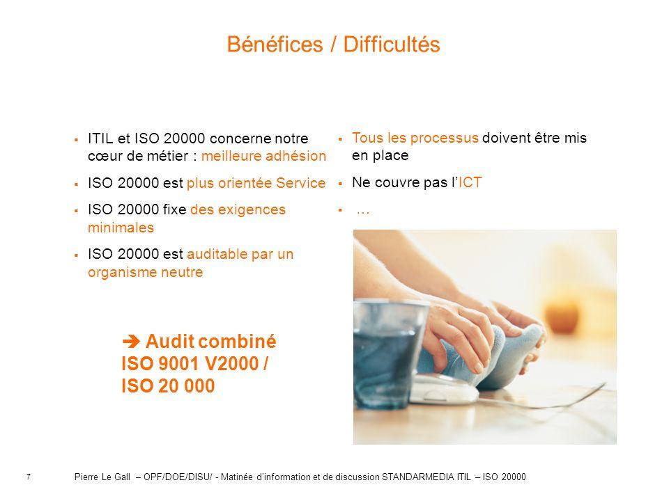 Bénéfices / Difficultés