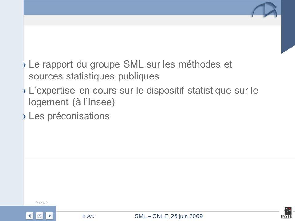 Le rapport du groupe SML sur les méthodes et sources statistiques publiques