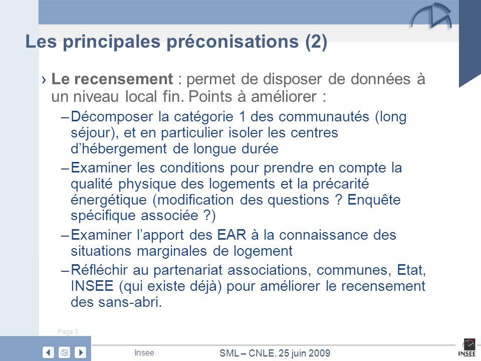 Les principales préconisations (2)