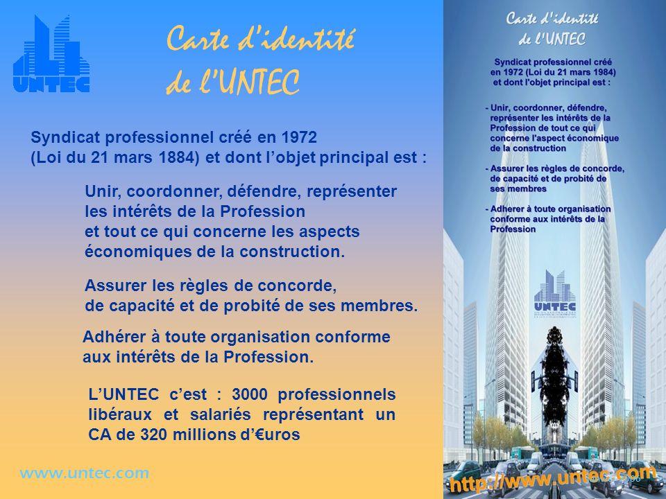 Carte d'identité de l'UNTEC