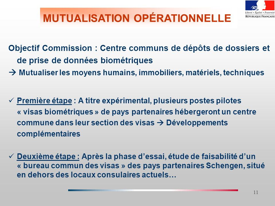 MUTUALISATION OPÉRATIONNELLE