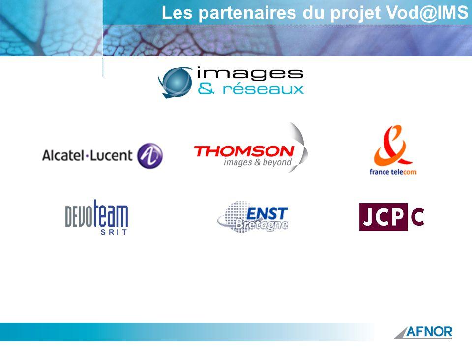 Les partenaires du projet Vod@IMS