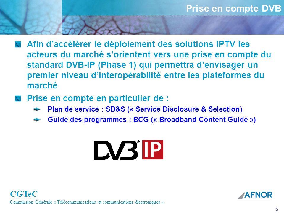 Prise en compte DVB