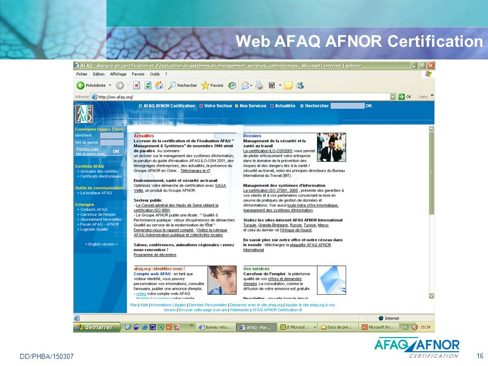 Web AFAQ AFNOR Certification