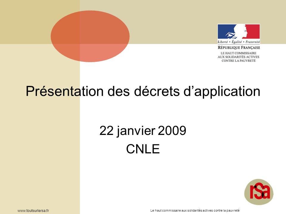 Présentation des décrets d'application