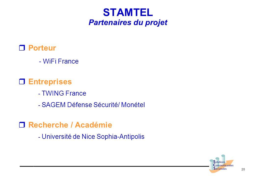 STAMTEL Partenaires du projet