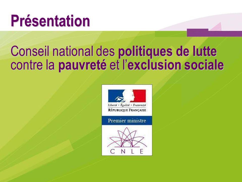 Présentation Conseil national des politiques de lutte contre la pauvreté et l'exclusion sociale